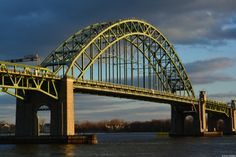 Tacony-Palmyra Bridge at Sunset; bridge crosses the Delaware River in Northeast #Philly.