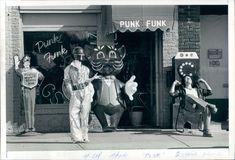 1981 Press Photo Terry Sanchez & His Punk Funk Store Troost Ave Kansas City Kansas City Missouri, City Ballet, Press Photo, Panama City Panama, Ballet Dancers, Punk, Spaces, Store, Tent