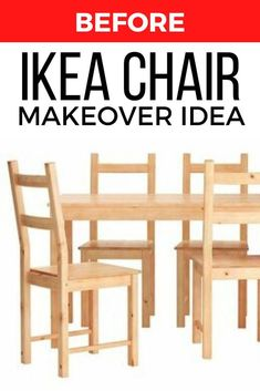 If you're decorating on a budget then you've probably been to Ikea a few times. Check out this easy and budget friendly way to makeover a wooden chair for your dining room or kitchen. #diy #chair #makeover
