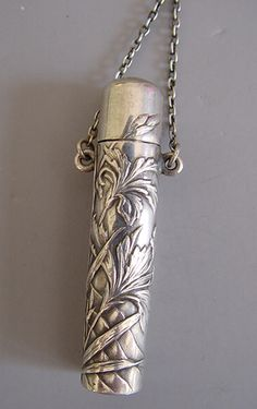 Perfume chatelaine with glass stopper