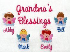 Grandma's blessings embroidered sweatshirt Embroidered Sweatshirts, Blessings, Machine Embroidery, Blessed, Cricut, Tee Shirts, Unisex, My Favorite Things, Chemises