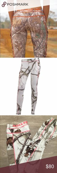 Realtree snow camo leggings It's almost that time of year!!!!!! :D New without tags Womens real tree snow camo leggings. •slimming and flattering •Super warm and comfy •Side thigh pockets • Side panel shirring • Pop-colour stitching •Polyester-spandex jersey knit leggings •side pockets at the thighs for convenient storage and side panel shirring. •An all-over Realtree AP® Snow camo design with pop-colour stitching completes its unique look. Fabric: 92% polyester / 8% spandex jersey knit…