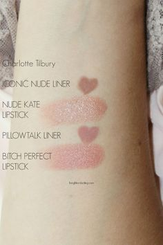 Charlotte Tilbury Iconic Nude Nude Kate Bitch Perfect Pillowtalk Swatches