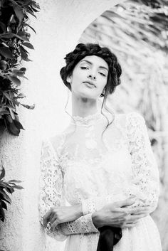 Vintage wedding inspiration. Styling, hair, makeup by Wide Eyed Beauty. #LA #LosAngeles #Hollywood #Bridal #Inspiration #weddingdress #vintage #gown #lace #white #spring #fall #model #fashion #style #dress #bride #wedding #makeup #hairstyles #updo