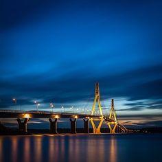 Replot bridge, the longest bridge in Finland Night At The Museum, Beautiful Buildings, Bridges, West Coast, Denmark, Norway, Sweden, Most Beautiful, Architecture