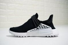 d8704b4981d Mens Womens Pharrell Williams x adidas Originals NMD Hu Trail NERD Black  White D97921 Running Shoes
