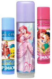 ** SOLD** Lip Smacker Disney Little Mermaid Ariel Princess Perfect Lip Gloss Trio Collection Tropical Treat, Calypso Berry (Biggie) and Strawberry Kiwi Kiss Carded