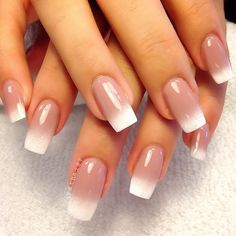 Gorgeous Nude Ombre nails