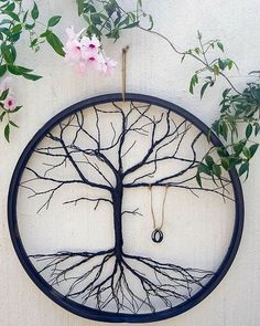 We love what @acraftymix.blog did with this bicycle wheel! Head over to #hometalk for steps on how to transform a wheel into the tree of life  #diy #homedecor #repurpose #diydecor #fall #treeoflife