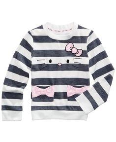 Hello Kitty Striped Long-Sleeve T-Shirt, Toddler Girls (2T-5T) & Little Girls (4-6X)