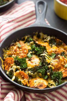 Mexican Sweet Potato And Kale Nachos - A healthy alternative to nachos that is SO good and SO easy!   Foodfaithfitness.com   @FoodFaithFit