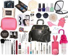 """""""Perrie inspired """"What's in your bag?"""""""" by fashionho13 ❤ liked on Polyvore"""