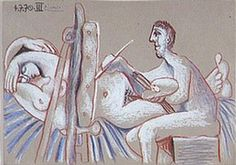 Pablo Picasso. The Artist and His Model (L`artiste et son modele) 1. 1970 year
