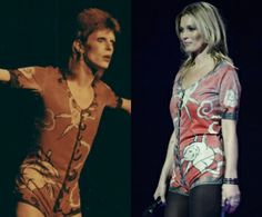 Kate Moss Does Her Best David Bowie