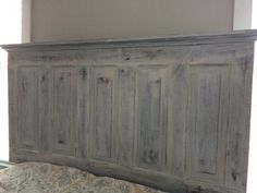 Making a Headboard from an Old Door - ImPane Diy King Headboard, How To Make Headboard, Wood Headboard, How To Make Bed, Headboard Ideas, Headboard Designs, Antique Door Headboards, Headboard From Old Door, Headboards For Beds