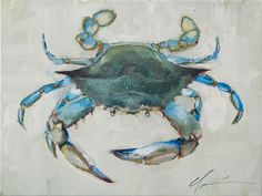"Daily Paintworks - ""Blue Crab"" - Original Fine Art for Sale - © Clair Hartmann Crab Art, Fish Art, Fish Fish, Watercolor Sea, Watercolor Animals, Crab Painting, Crab Tattoo, Louisiana Art, Coastal Art"