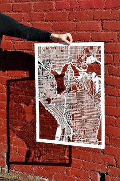 city cutout maps
