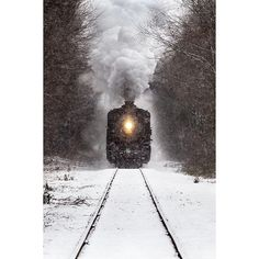 Winter Train ❤ liked on Polyvore featuring backgrounds, winter, pics, pictures and places
