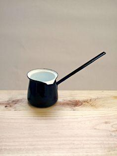 Vintage Enamel Turkish Coffee Pot