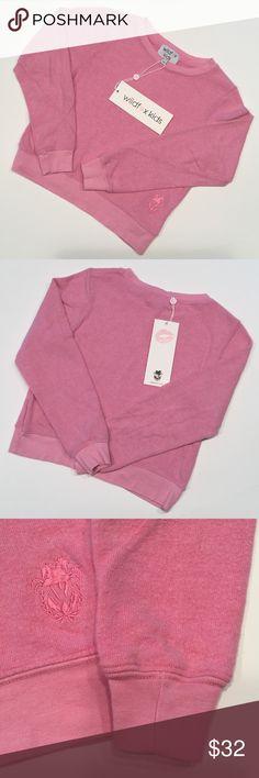 Wildfox kids sweatshirt bbj 🆕 Wild Fox Baggy Beach Jumper in super soft pink. Wild fox sweater / wild fox sweatshirt has longer wild fox style sleeves with banded cuff. New with tags. Size 5 / 6. Wildfox Shirts & Tops Sweatshirts & Hoodies