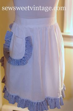 Dowton Abbey Style Vintage Apron by SewSweetVintageco on Etsy, $16.00