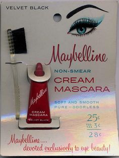 1950s Maybelline cream mascara.