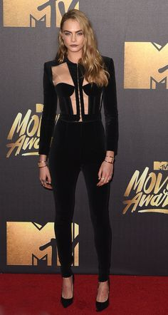 Cara Delevingne in Balmain 2016 MTV Movie Awards