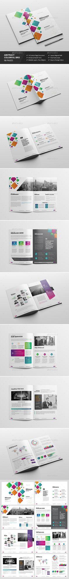 Haweya Colorful Brochure 02 - Corporate #Brochures Download here: https://graphicriver.net/item/haweya-colorful-brochure-02/18415659?ref=alena994