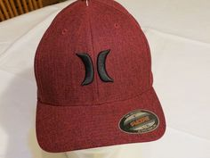 4d97db2e7e1 Men s hat cap Hurley surf skate red black RARE flexfit S M original NEW NWT