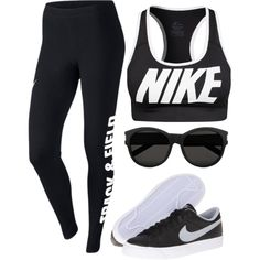 Untitled #97 on Polyvore featuring polyvore, fashion, style, NIKE and Yves Saint Laurent