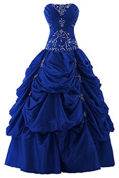 Sunvary Ball Gown Strapless Appliqued Ruffle Long Prom Gowns Quinceanera Dresses- US Size 12- Royal Blue Sunvary http://www.amazon.com/dp/B00LFA4W2G/ref=cm_sw_r_pi_dp_yZ63tb0ZMPFCQD2H