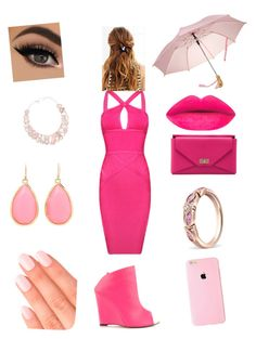 """pink a good"" by arredondoashley ❤ liked on Polyvore featuring Posh Girl, Liliana, Givenchy, Kate Spade and Elegant Touch"
