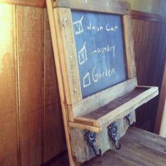 Barn Wood Crafts Ideas | Rustic Reclaimed Barn Wood Framed Chalkboard and ... | Craft Ideas