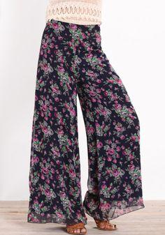 Chiffon wide leg pajama pants