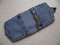 Recycle jeans into pot holder