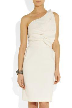 Roland Mouret|One-shoulder wool-blend dress|NET-A-PORTER.COM