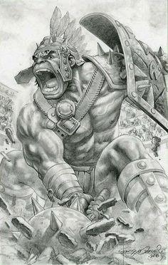 Battleworld Hulk by Rags Morales Hulk Marvel, Marvel Art, Spiderman, Comic Book Heroes, Comic Books Art, World War Hulk, Planet Hulk, Hulk Artwork, Gladiator Hulk