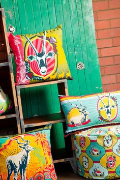 love the colour and design. Mr Price Home - Kiekie Colab Project South African Decor, South African Homes, South African Design, Mr Price Home, Home Online Shopping, African Crafts, Textiles, Rustic Crafts, Soft Furnishings