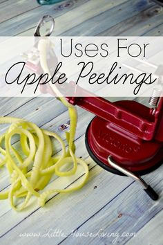 Uses for Apple Peels! Everything from aromatherapy to apple peel jelly. So many things to do instead of tossing them!