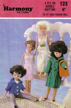 """Harmony Teenage Fashion Doll Knitting Pattern: Jacket, Halter Blouse, Afternoon and Evening Dress Tofit 11""""1/2 Dolls: Amazon.co.uk: Harmony:..."""