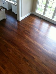 Just Refinished Red Oak Flooring With Red Mahogany Stain