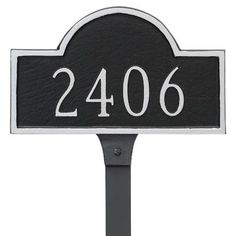 Montague Metal Products Classic Arch Petite Address Plaque Finish: Swedish Iron/Silver