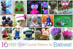 16 FREE Stitch11 Crochet Patterns for Babies!