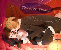 durarara, halloween, happy halloween, heiwajima shizuo, izaya, neko, orihara izaya, shizuo, trick or treat, yaoi