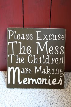 Please Excuse the Mess by OurWeatheredNest on Etsy, $21.99