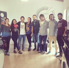 Fran, Andrés, Fede, Luchín & chicos de la escuelita de verano 1