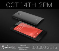 Xiaomi brings 1 lakh RedMi 1S on the day of Samsung Galaxy Note 4 launch