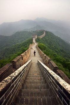The Great Wall of China. To be there is a dream for me.