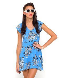 Motel Julia Cap Sleeve Dress in Morris Flower, TopShop, ASOS, House of Fraser, Nasty gal
