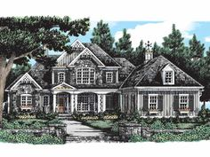 French Country House Plan with 3708 Square Feet and 5 Bedrooms from Dream Home Source | House Plan Code DHSW38713